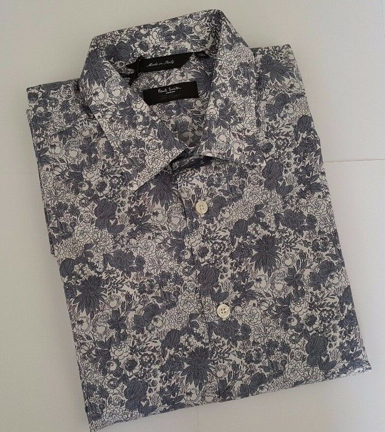 Paul Smith Shirt Size 16.5 Size EXTRA LARGE Floral BRYARD