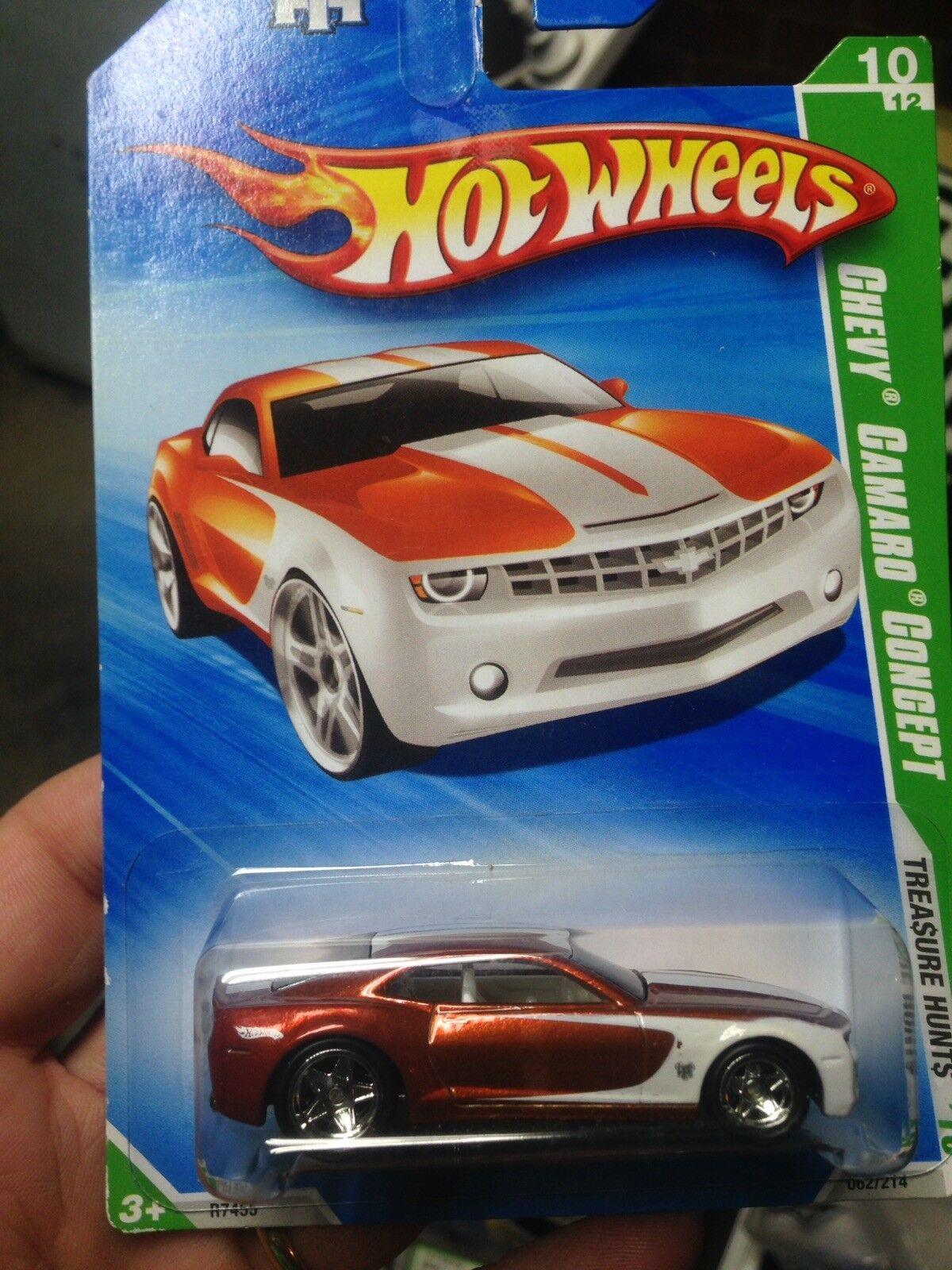 2010 Hotwheels Chevy Chevy Chevy Camaro Concept-Súper búsqueda del tesoro NUEVO a3ff54