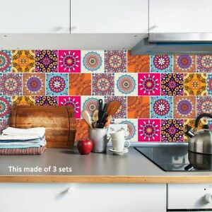 Wandfliesen-aufkleber-wasserfest-abstrakt-Mosaik-selbstklebend-PVC-Tapete