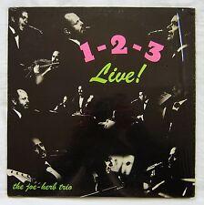 JOE HERB TRIO 1-2-3 Live! PRIVATE US 60s JAZZ LP flute etc