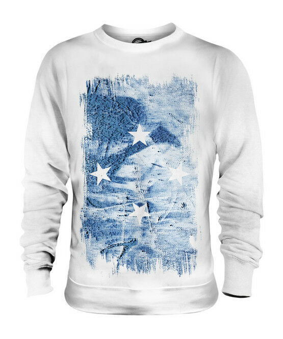 MICRONESIA GRUNGE FLAG UNISEX SWEATER TOP FOOTBALL GIFT SHIRT CLOTHING JERSEY