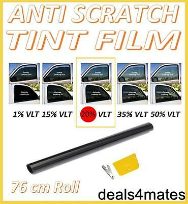 Antigraffio Professional Car Window Tint Film Fumo Scuro Nero 20% 76 Cm X 3 M-