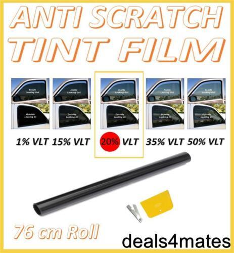 antiarañazos Profesional ventana Film Tinte Negro Oscuro 20/% 76cm x 3m