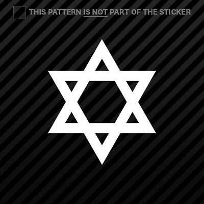 Shaka Sign Hang Loose Star of David Decal Sticker Car Vinyl Israel Jew