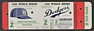 1956-WORLD-SERIES-Proof-Full-Ticket-DODGERS-YANKEES-Mickey-Mantle-JackieRobinson