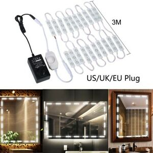 Details About Led Vanity Lights Kit Lighting Fixture Strip Stick On Dimmable For Makeup