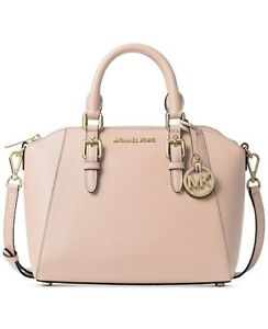 93126855bb64 Image is loading Michael-Kors-Ciara-Small-Saffiano-Leather-Satchel-Handbag-