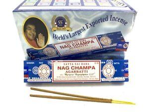 Nag Champa Incense Sticks 15g X 6 Bulk Lot Pack Satya Sai Baba Scent Authentic Ebay