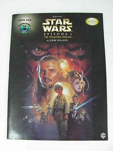 music from star wars episode 1 the phantom menace alto sax w instructional cd