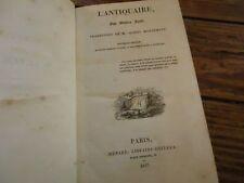 OEUVRES DE WALTER SCOTT - 1837 L' ANTIQUAIRE