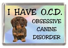 """Dachshund Wire Haired Dog Fridge Magnet """"I HAVE O.C.D.""""  by Starprint"""