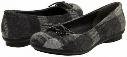 Madden Girl Dezzy ballet flats plaid fabric sz 8.5 Med NEW
