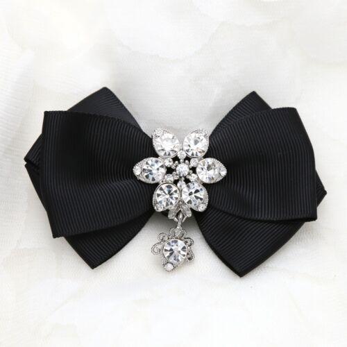 2 Pcs Snowflake Rhinestone Crystal Dangle Color Ribbon Bow Shoe Charms Clips