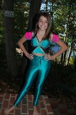 Turquoise pink  custom competition dance  costume AXS Pageant jazz open tap