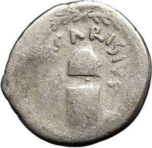 Roman-Republic-46BC-Rome-JUNO-Moneta-Coin-Minting-Vulcan-on-Silver-Coin-i52487
