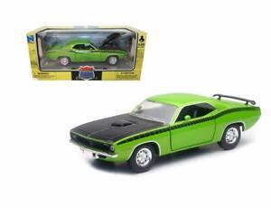 NEWRAY 1:24 MUSCLE CAR 1970 PLYMOUTH BARRACUDA DIE-CAST ORANGE 71875