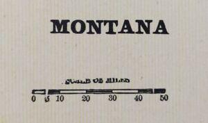 Vintage-1900-MONTANA-Map-22-034-x14-034-Old-Antique-Original-BILLINGS-HELENA-MISSOULA