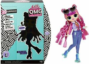 LOL-Surprise-Series-3-OMG-Roller-Chick-Fashion-Doll-L-O-L-Doll-w-20-Surprises