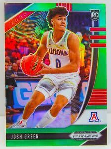 Josh Green RC 2020-21 Green Prizm Draft Picks Rookie Card #21 Mavericks Arizona