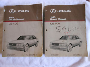 1993 lexus ls400 ls 400 factory workshop shop service repair manual rh ebay com 1993 lexus ls400 repair manual pdf 1993 lexus sc400 repair manual