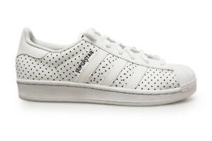 best sneakers 2e357 c7b2e Caricamento dell immagine in corso Donna-Adidas-Superstar-W-S79589-Bianco- Blu-Scuro-