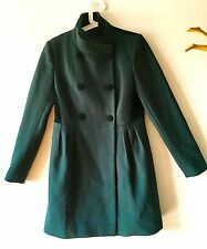Rare Badgley mischka Forest Green 100% Wool& Velvet Dress Coat( Riding/frock)S/M