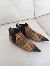 Vivienne Westwood Toe Cap Tartan Chelsea Boots Rare Samples Size 37 / UK 4