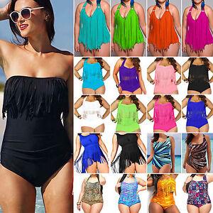 nuovo arrivo a764b 77e40 Dettagli su Taglie Forti Costume da Bagno Donna Tankini Bikini Estate  Abbigliamento Spiaggia