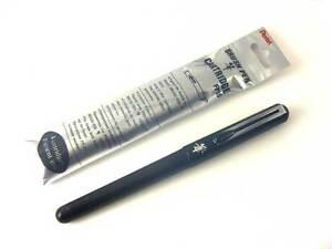 Japan Version Pentel Refillable Pocket Brush Pen + 4 Black Ink Cartridges