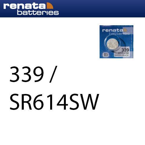 1 x Renata 339 Uhrenbatterien 1,55 V SR614SW SR614 11mAh Knopfzelle
