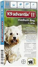 K9 Advantix II for Medium Dogs 11-20 lbs, 2 Month Supply