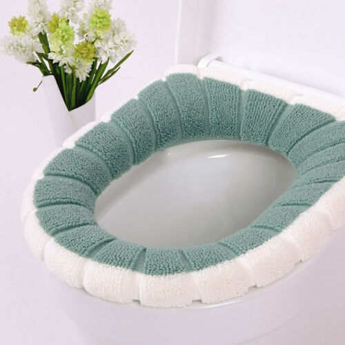 Warmer Seat Closestool Mat Soft Bathroom Pad Toilet Cushion Washable Cover