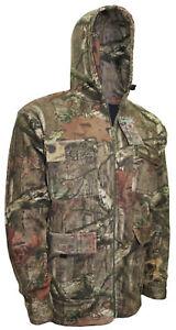 Mens Cap Sleeve RealTree Jungle Hoodie Fishing Jacket Hiking Hunting M Up To 2XL