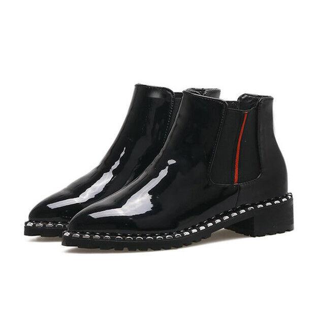 Stiefel niedrig schuhe militärschuhe 4 cm schwarz schwarz schwarz elegant simil leder 9147 f443e2