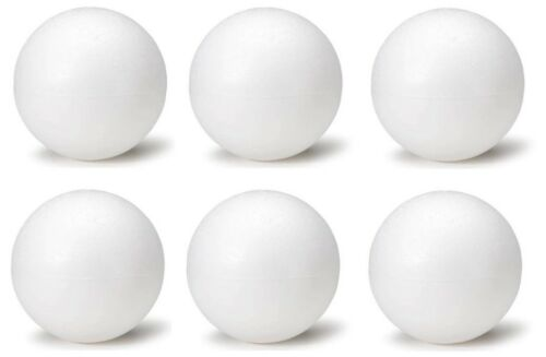 2.25 Inch Foam Polystyrene Balls for Art /& Crafts Projects 6 Piece Set
