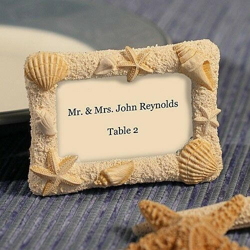 75 Beach Sea Shell Photo Place Card Frame Wedding Bridal Shower Party Favors