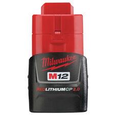 Milwaukee M12 REDLITHIUM CP 2 Ah Li-Ion Battery (1-Pc) 48-11-2420 New