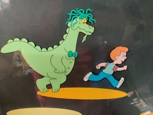 PUFF-THE-MAGIC-DRAGON-Original-Production-Animation-Cel-Art-1982-RARE-PAN-CEL