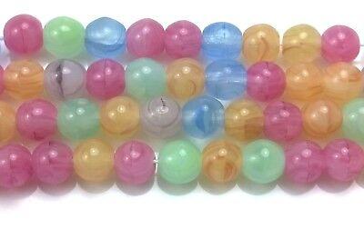 Amaranth 10mm Maroon 25 Czech Glass Round Beads