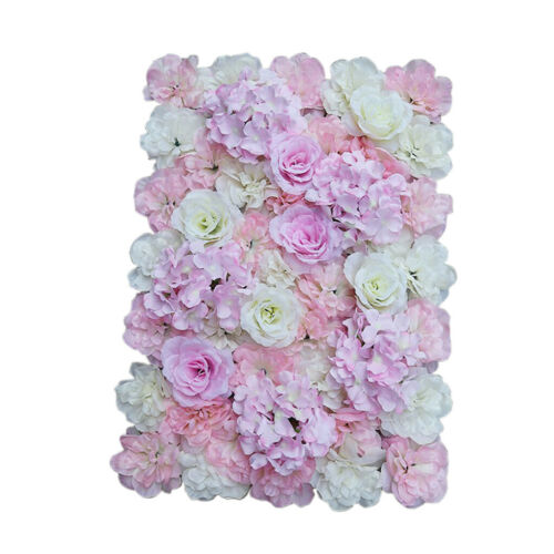 20 Silk Romantic Artificial Flower Wall Panel Wedding Venue Decor Pink White