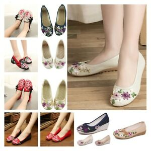 Women-Casual-Ballet-Sandals-Chinese-Embroidered-Flower-Shoes-Mary-Jane-Pump