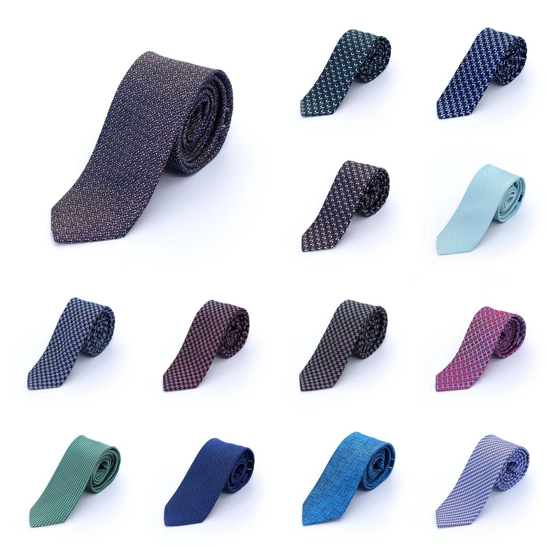 Accents Men's Tie 100% Silk Tie Retro Oldskool Patterned