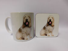 Basset Griffon Dog Mug and Coaster Set