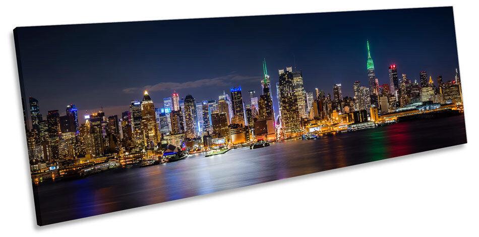 New York City Skyline Midtown CANVAS WALL ART Panorama Framed Print