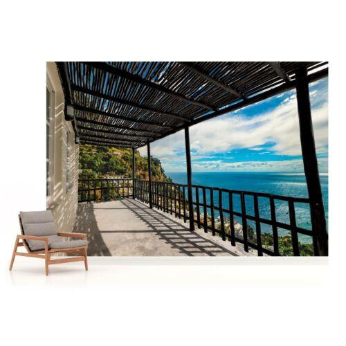Sea Terrace View Photo Wallpaper Wall Mural Fleece Easy-Install Paper