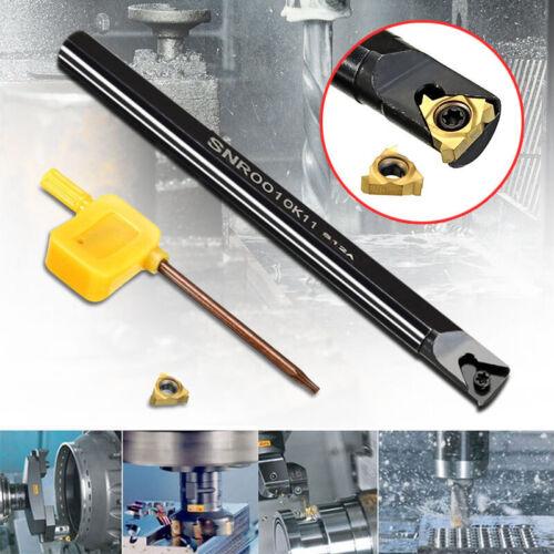 Internal Lathe Threading Boring Bar Turning Tool Holder SNR0010K11 W// T8 Wrench
