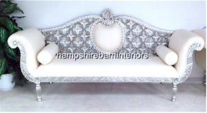 Astonishing Details About Royal Wedding Set Ornate 3 Pc Suite Silver Leaf White Faux Leather Sofa 2 Chair Creativecarmelina Interior Chair Design Creativecarmelinacom