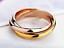 Anello-Fede-Fedine-Coppia-Paio-3-Anelli-in-uno-Acciaio-Donna-Cuore-Oro-Argento miniatura 5
