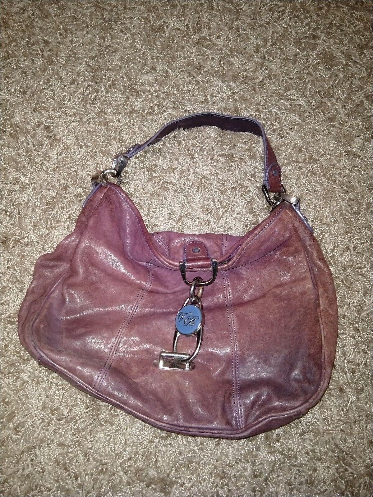 Ted Baker Purple Leather Shoulder Handbag