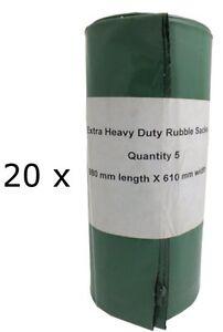 20 LARGE HEAVY DUTY RUBBLE SACKS//RUBBLE BAGS *STRONG*